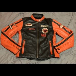 Harley Davidson Women's Leather Bike Jacket Size S